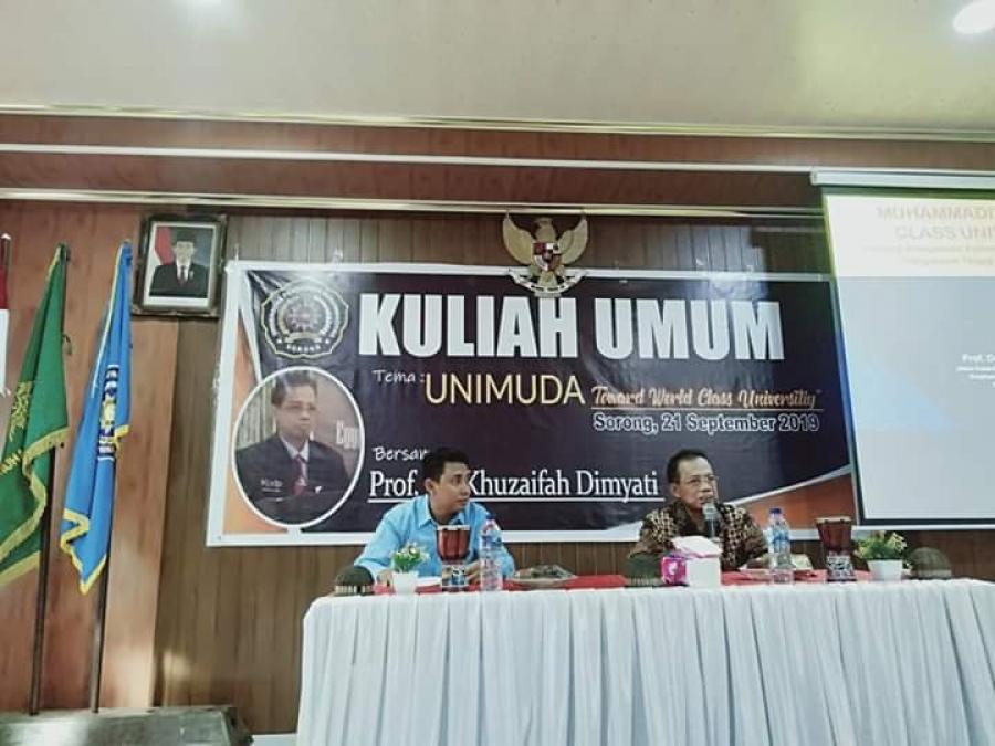 KULIAH UMUM BERSAMA Prof. KHUZAIFAH DIMYATI (GURU BESAR UNIV. MUHAMMADIYAH SURAKARTA)