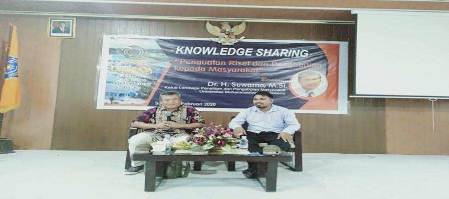 KNOWLEDGE SHARING PENGUATAN RISET DAN PENGABDIAN KEPADA MASYARAKAT 2020